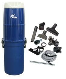 Hills Central Vacuum Kit with Hose and Accessories