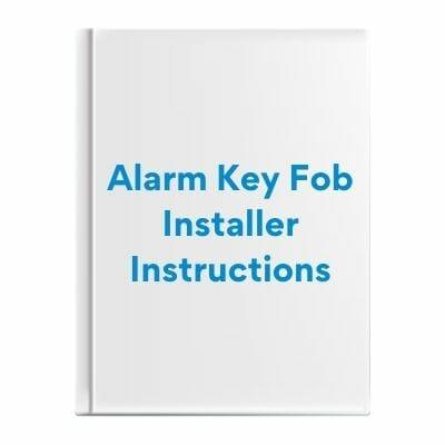 Alarm Key Fob Installer Instructions