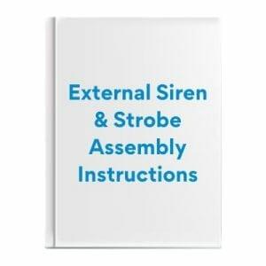 External Siren & Strobe Assembly Instructions